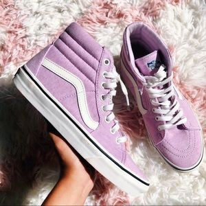 NEW Vans Sk8 Hi lavender sneaker light purple